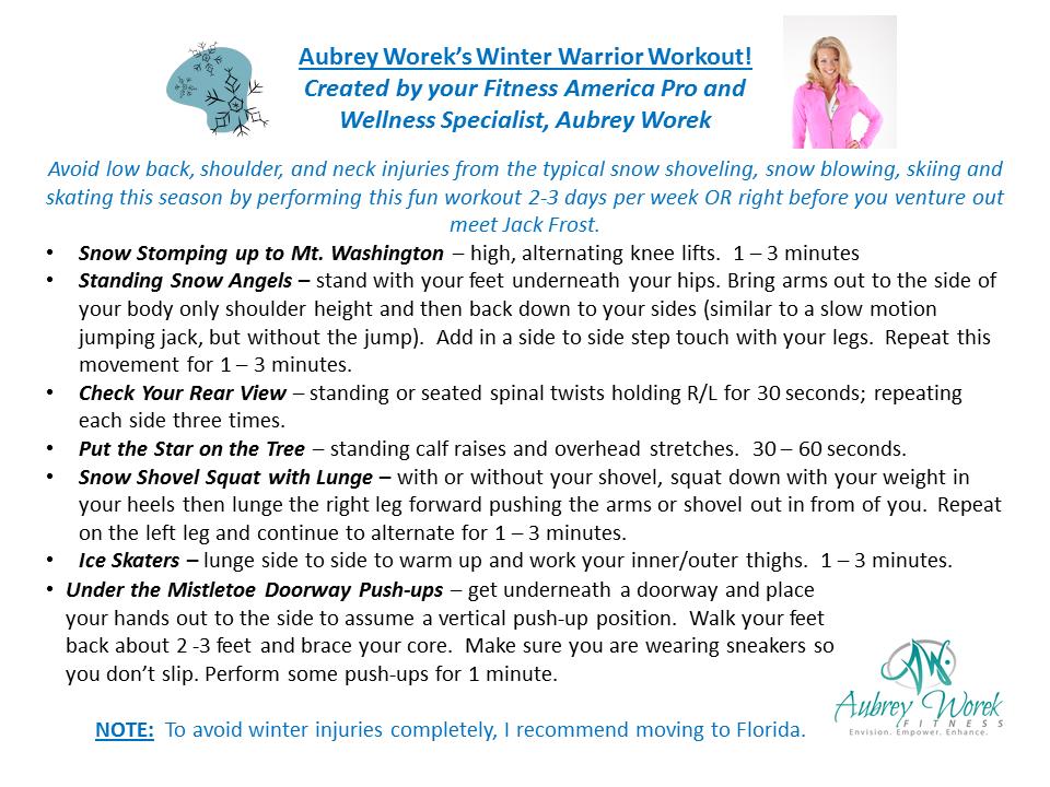 Worek's Winter Warrior Workout