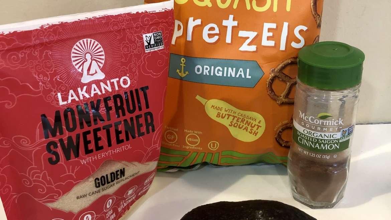 Guilt-free cinnamon & sugar pretzel dip!